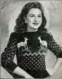 vintage reindeer jumper